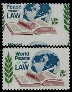 1576 - Huge 2-Way Misperf Error / EFO World Peace Mint NH
