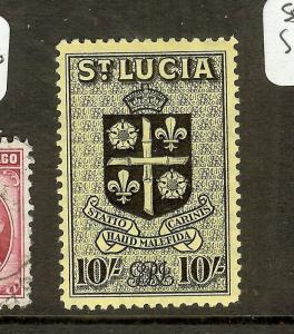 ST LUCIA (P0208B) KGVI 10/- CREST SG138  MOG