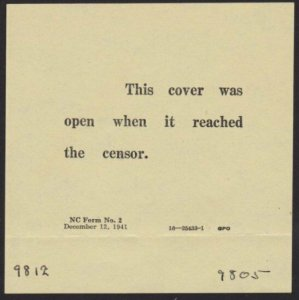 USA 1942 cover ex Fairbanks Alaska with interesting censor notice...........6378