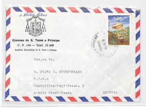 CA253 1986 S. Tome e Principe Airmail Cover MISSIONARY VEHICLES PTS