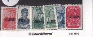 Lithuania: Vilnius Locals: German Occupation: Mi #10//16, MNH (42172)