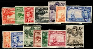 CAYMAN ISLANDS SG115-126, COMPLETE SET, NH MINT. Cat £100.