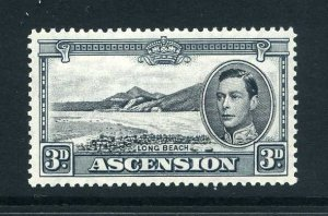 Ascension 1938 KGVI 3d black and grey p13½ SG 42a mint