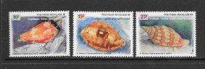 SHELLS - FRENCH POLYNESIA #679-81 MNH