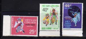 South Vietnam 509-511 Set MNH Theater Costumes (C)