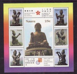 Nauru-Sc#444-Unused NH sheet-Buddha-Exhibition-1997-