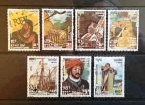 CAMBODIA KAMPUCHEA LOT OF USED  STAMPS