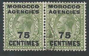 Great Britain Morocco Agencies #417-Pair, Used**