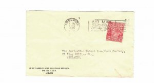 APH1490) Australia 1930 2d Red KGV Die II Small Cover