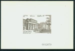 SPAIN 2452P, PRADO MUSEUM-EXFILNA PHILAT EXHIBITION 1985, DIE PROOF MNH VF