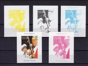 Sao Tome & Principe 2004 Pope John Paul II Mother Teresa Color proofs + original