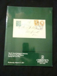 CHRISTIES AUCTION CATALOGUE 1987 TENNESSEE CIVIL WAR POSTAL HISTORY 'GALLAGHER'