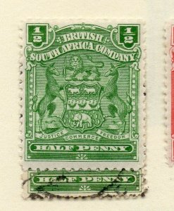 Rhodesia 1900s Early Issue Fine Mint Hinged 1/2d. NW-170434