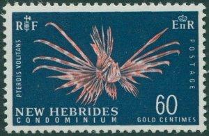New Hebrides 1967 SG129 60c Lionfish MLH