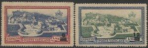 VATICAN CITY Italy 1945  Sc E7-E8  MNH F-VF  Revalued Set  Vatican City