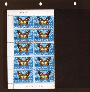Malawi 1973 Butterflies 30t.Block of 10 MNH Sc # 203 5/04/73