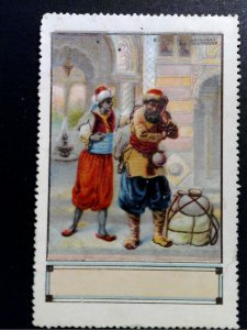 German Poster Stamp - 1001 Nights - Sinbad & Baggage Carrier