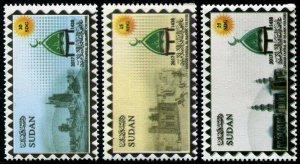 HERRICKSTAMP NEW ISSUES SUDAN Sc.# 664-66 SINNAR, Islamic Culture Capital