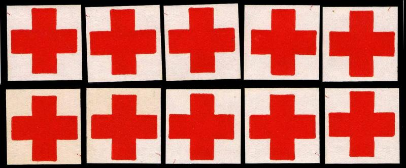 WWI AMERICAN RED CROSS OFFICIAL CORRESPONDENCE SEALS - OGNH - VF (E#C0117)