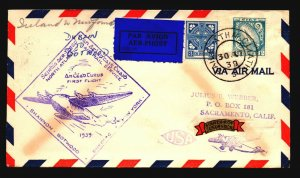 Ireland 1939 First Flight Cover to NFLD - Z17845
