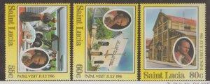 St. Lucia Scott #835-836-837 Stamps - Mint NH Set