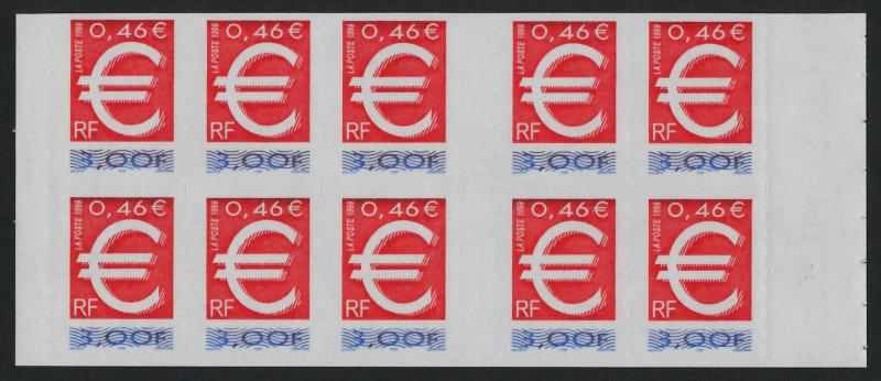 France 2691b Booklet MNH Introduction of the Euro