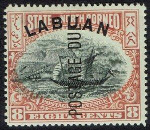 LABUAN 1901 POSTAGE DUE DHOW 8C