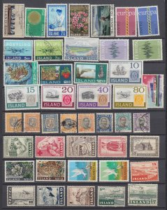 J29761,  iceland mh/used all different lot