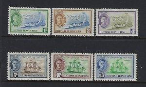 BRITISH HONDURAS SCOTT #131-136 1949 GEORGE VI SET- MINT LIGHT HINGED