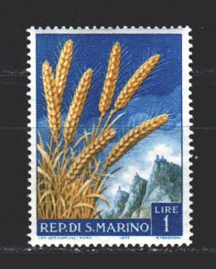 San Marino. 1958. 594 from the series. Ears of wheat. MNH.