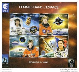Chad 2011 Women in SPACE-Astronomy Year Perforated mnh.vf #2