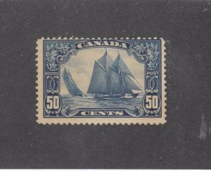 CANADA # 158 F-VF-MLH 50cts BLUENOSE CAT VALUE $275