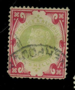 Great Britain #126 Used F-VF Cpl sht perfs Crease Cat$145