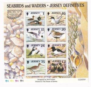 GB JERSEY # 785b PACIFIC 97 BIRDS S/SHEET POST OFFICE FRESH