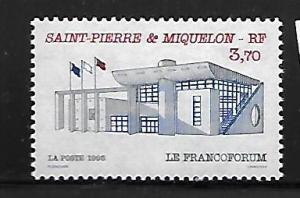 ST. PIERRE & MIQUELON 620 MNH FRANCOFORUM PUBLIC BUILDING ISSUE