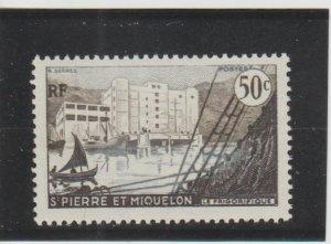 St. Pierre & Miquelon  Scott#  347  MH  (1956 Fish Freezing Plant)