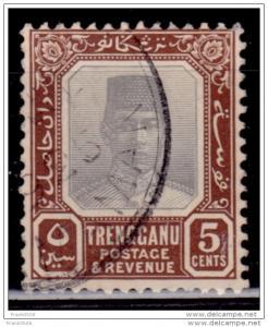 Malaya, Trengganu, 1921, Sultan Badaru´I-alam, 5c, Scott# 25, used