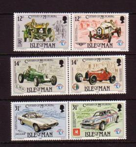 Isle of Man Sc 284-6 1985 Motor Race stamps mint NH