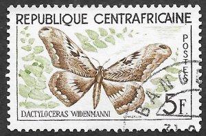 Central African Republic Scott #8 5fr Butterfly (1960) CTO H