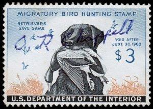 United States Duck Hunting Scott RW26 (1959) Used/Signed F-VF W