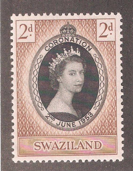 Swaziland 1953,QE-II Coronation Issue,Sc 54,VF MLH*