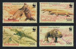 Indonesia WWF Komodo Dragon 4v SG#2620-2623 MI#2005-2008 SC#1911-1914