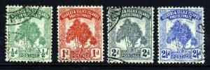 GILBERT & ELLICE ISLANDS 1911 Full Pandanus Pine Set Wmk MCCA SG 8 to SG 11 VFU