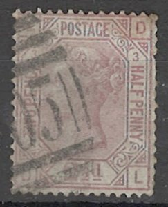 COLLECTION LOT OF # 1688 GREAT BRITAIN # 66 pt 3 1875 CV= $ 135