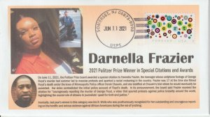 6° Cachets Pulitzer Prize 2021 Darnella Frazier for Special Citations and Awards