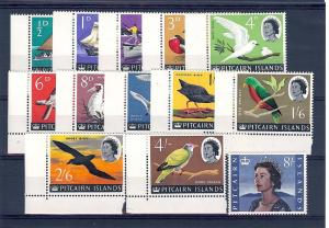 Pitcairn Islands, 39-51, Various Designs Singles, **MNH**