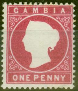 Gambia 1887 1d Crimson SG23 Fine Lightly Mtd Mint