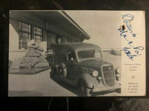 1935 Johannesburg South Africa RPPC Postcard Cover to Durban Mail Delivery Car