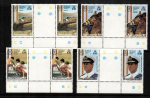 ascension  297-300 mnh gutter pairs