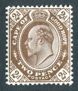 Cape of Good Hope 1902 KEVII. 2d brown. Mint Hinged. SG72.